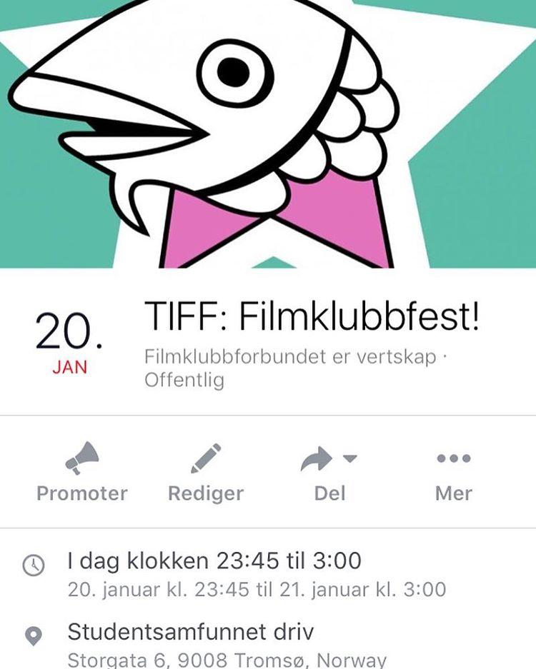 I kveld er det endelig duket for filmklubbfest under tromsofilmfesthellip