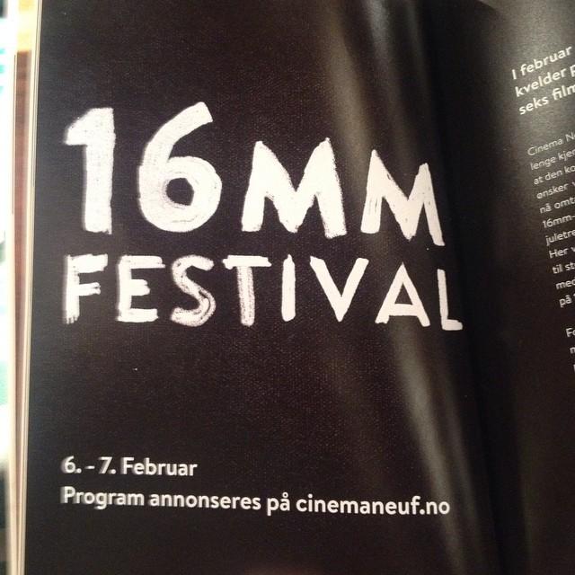 I februar, like etter @cinemateketioslo sin #70mm-festival, inviterer Oslo-filmklubben @cinemaneuf…