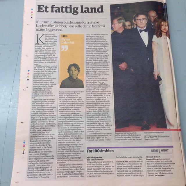 Les Dagens Næringslivs oppfordring til kulturministeren 23. mai!
