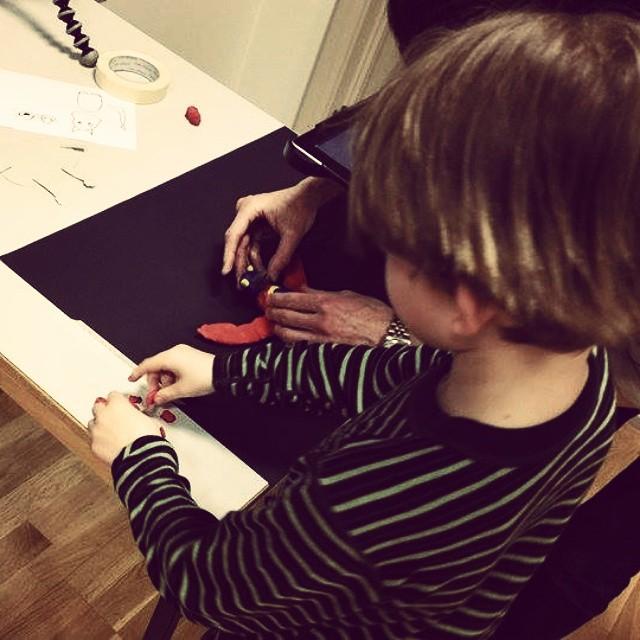 Morgendagens filmskapere på #animaskonsverksted i #barnefilmklubben i #Trondheim.