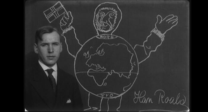 Roald Amundsen paa Sydpolen