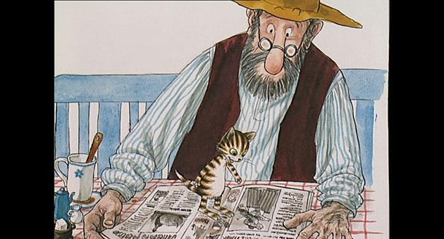 Gubben & katten – Hanespetakkelet, Da Findus var liten