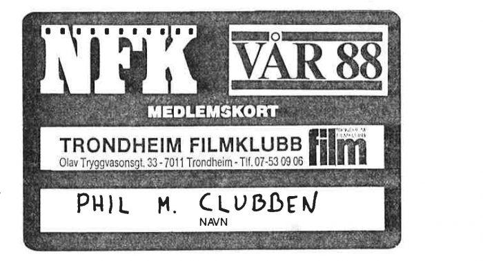 Filmklubbminne: et springbrett for karrieren